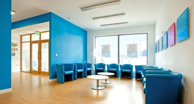 Oasis Dental Care bangor used NVDC for dental office waiting room ideas