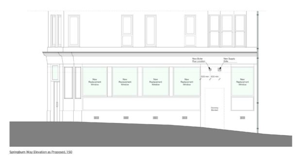 Elevation of new Dental Surgery in Bishopbriggs