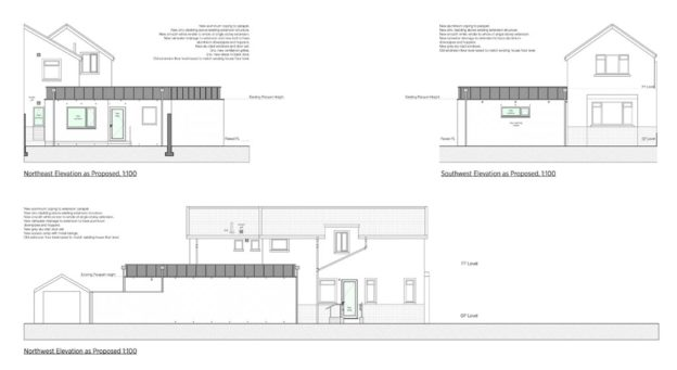 Proposed single storey extension and renovation to existing Diamond Dental Practice, Clydebank, Scotland
