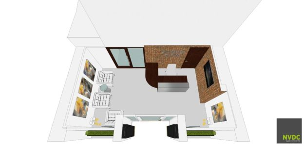 3D Visualisation of new reception and waiting area, Kingdom Dental Surgery