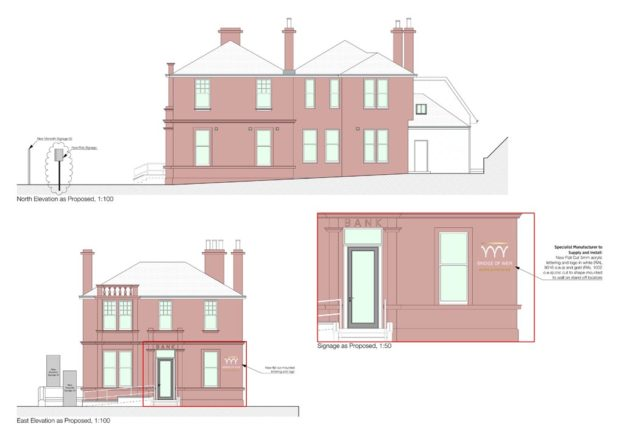Proposed elevations for Bridge of Weir Dental and Aesthetics, Scotland