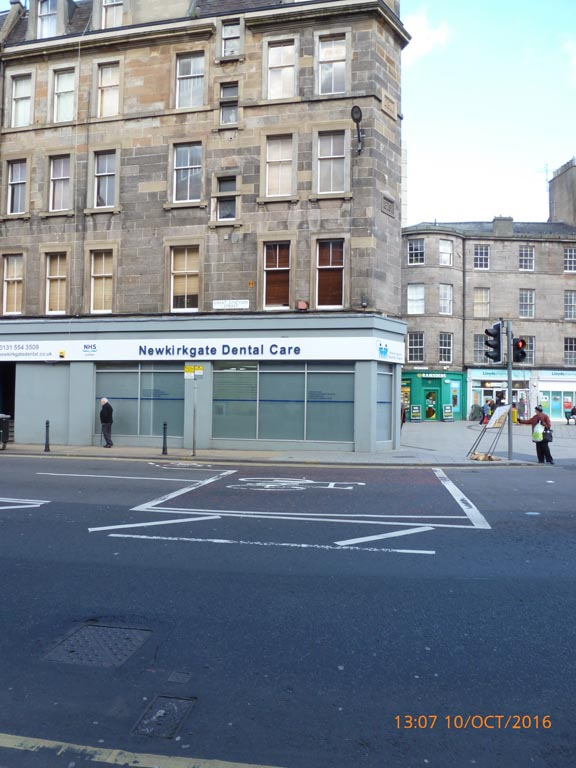 Newkirkgate Dental Care existing shopfront in Victorian Sandstone Tenement