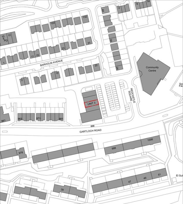 Location Plan of new dental surgery, Glasgow