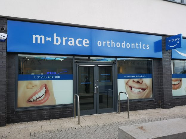 New orthodontics practice blue shopfront design